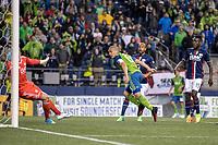 Seattle, Washington - Saturday, April 29, 2017.  Seattle Sounders FC vs. New England Revolution. Final Score: Seattle Sounders FC 3, New England Revolution 3