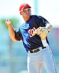 1 March 2010: Washington Nationals' third baseman Ryan Zimmerman takes Spring Training fielding drills at the Carl Barger Baseball Complex in Viera, Florida. Mandatory Credit: Ed Wolfstein Photo