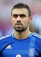 FUSSBALL  EUROPAMEISTERSCHAFT 2012   VORRUNDE Polen - Griechenland      08.06.2012 Giannis Maniatis (Griechenland)