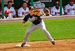 12 April 2008: Atlanta Braves' first baseman Mark Teixeira in action against the Washington Nationals at Nationals Park, in Washington, DC. The Braves defeated the Nationals 10-2...Mandatory Photo Credit: Ed Wolfstein Photo