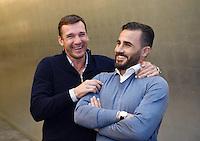 Fussball International 29.02.2016 Fussball International FIFA Praesident Gianni Infantino (Schweiz) erster Tag im Home of Fifa Freundschaftsspiel FIFA Mitarbeiter und Ex Fussballer Andriy Shevchenko (li, Ukraine) umarmt Fabio Cannavaro (Italien)
