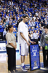 UK's Eloy Vargus receives his framed jersey during senior night before playing Georgia at Rupp Arena on Friday, March 2, 2012. Photo by Scott Hannigan | Staff