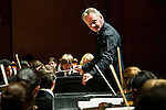 11/28/2012 - Medford/Somerville, Mass. -  John Page conducts the Tufts Symphony Orchestra fall concert on Wednesday, November 28, 2012. (Alonso Nichols/Tufts University)