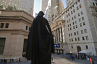 Federal Hall National Memorial and New York Stock Exchange on Wall Street, New York City, NY