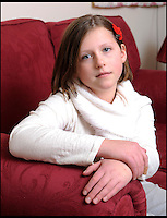 BNPS.co.uk (01202) 558833<br /> Picture: LauraJones/BNPS<br /> <br /> No hugs for brave Ella this Xmas...<br /> <br /> Ella Murphy (11) from Langport, Somerset who has complex regional pain syndrome. <br /> <br /> Little Ella Murphy might look like a happy child but she is actually battling a rare condition that leaves her in such agony she can't cuddle her mother.<br /> <br /> Ella suffers from a neurological disease called Complex Regional Pain Disorder (CPRS) which affects one in 4,000 people per year.<br /> <br /> The condition means the schoolgirl is struck down by agonising pain in different parts of her body that can last for months at a time.<br /> <br /> Even the slightest touch of the tender area can cause a horrendous burning sensation, meaning her family cannot even hug her if her upper body is affected.