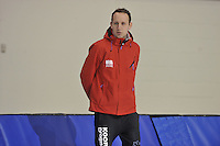 SPEED SKATING: SALT LAKE CITY: 18-11-2015, Utah Olympic Oval, ISU World Cup, training, Martin ten Hove (trainer/coach Team Koopjesdrogisterij.nl), ©foto Martin de Jong