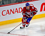 3 February 2009: Montreal Canadiens' defenseman Mike Komisarek in action during the second period against the Pittsburgh Penguins at the Bell Centre in Montreal, Quebec, Canada. The Canadiens defeated the Penguins 4-2. ***** Editorial Sales Only ***** Mandatory Photo Credit: Ed Wolfstein Photo