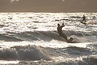 Kitingboarding on Second Beach, Middletown, RI