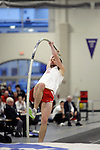 11 MAR 2011: Thomas Stacey of North Central College pole vaults during the the Division III Men's and Women's Indoor Track and Field Championships held at the Capital Center Fieldhouse on the Capital University campus in Columbus, OH.  Jay LaPrete/NCAA Photos
