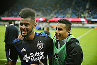 San Jose, CA - Saturday, March 04, 2017: Anibal Godoy prior to a Major League Soccer (MLS) match between the San Jose Earthquakes and the Montreal Impact at Avaya Stadium.