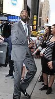 NEW YORK, NY-September 07: Calvin Johnson Jr. at The Stars of Dancing with Stars Season 23 Press Junket  at Planet Hollywood Time Square in New York. NY September 07, 2016. Credit:RW/MediaPunch