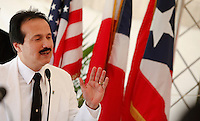 Jose Guillermo Rodriguez The mayaguez mayor speaks during the openning of America Cruise Ferries operations, between Puerto Rico and Dominican Republic.The ferry-cruise ship can transport 1,100 passengers and a carries a combination of 150 containers and around 70 vehicles in every crossing. ViewPress/ Kena Betancur