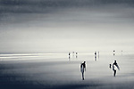 Abstraction of people on a beach