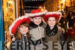 Aoibhinn Enright Barry (Tarbert), Caoimhe Carey (Listowel) and Sadhbh Enright Barry (Listowel), pictured at the Coca Cola Truck in Listowel on Sunday last.
