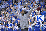 """Former UK player John Wall is the """"Y"""" during the second half of the University of Kentucky Men's basketball game against Tennessee at Rupp Arena in Lexington, Ky., on 2/8/11. Uk won the game 73-61. Photo by Mike Weaver 