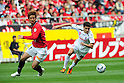 Mitsuru Nagata (Reds),Rodrigo Pimpao (Cerezo), MAY 15th, 2011 - Football : 2011 J.League Division 1 match between Urawa Red Diamonds 1-1 Cerezo Osaka at Saitama Stadium 2002 in Saitama, Japan. (Photo by AFLO).