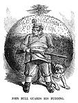 John Bull Guards His Pudding.