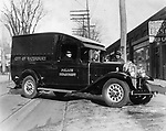 Waterbury Police Departmant patrol wagon, 1931