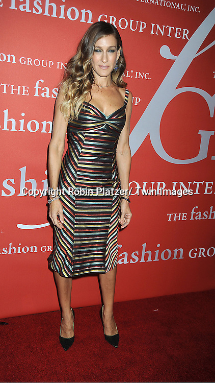 Sarah Jessica Parker in L'Wren Scott dress attends the Fashion Group International's 29th Annual  Night of Stars Gala on October 25, 2012 at Cipriani Wall Street in New York City.