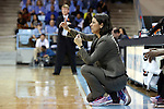 02 March 2014: Duke head coach Joanne P. McCallie. The University of North Carolina Tar Heels played the Duke University Blue Devils in an NCAA Division I women's basketball game at Carmichael Arena in Chapel Hill, North Carolina. UNC won the game 64-60.