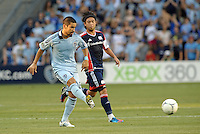 Paulo Nagamura (6) midfield Sporting KC in action..Sporting Kansas City and New England Revolution played to a 0-0 tie at LIVESTRONG Sporting Park, Kansas City, KS.