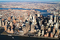 aerial photograph World Trade Center Manhattan, New York City