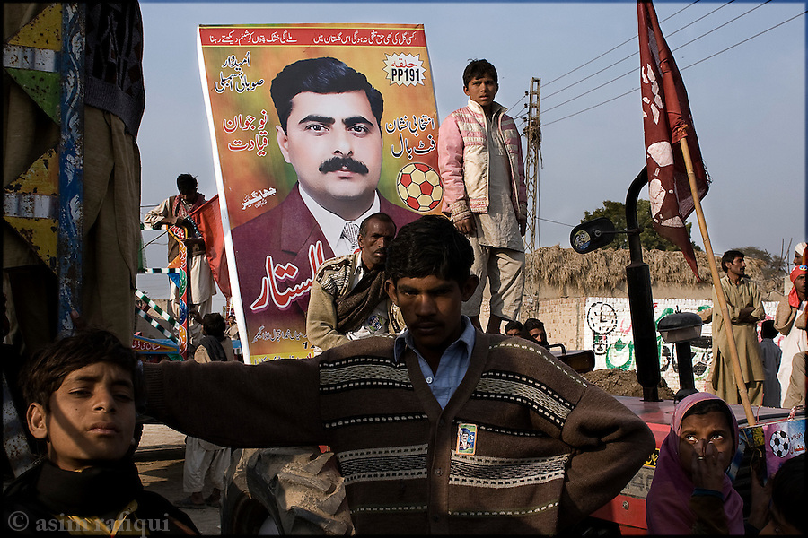 Okara, Punjab, Pakistan. 2008. At a political rally for mehr abdul sattar foot - abdul sattar is the first member of the landless peasant community who has attempted to run for a provincial assembly seat in punjab.  his ability to win is crucial to the issue of the landless being discussed at the highest governmental and judicial levels