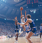 27 MAR 1978:  Kentucky guard Truman Claytor (22) and Duke forward Eugene Banks (20), guard Jim Spanarkel (34), center Mike Gminski and guard John Harrell (22) during the NCAA Men's National Basketball Final Four championship game held in St. Louis, MO, at the Checkerdome. Kentucky defeated Duke 94-88 for the championship. Photo by Rich Clarkson/NCAA Photos.SI CD 2017-09