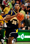 13 December 2009: Quinnipiac University Bobcats' forward Jamee Jackson, a Freshman from Newark, NJ, in action against the University of Vermont Catamounts at Patrick Gymnasium in Burlington, Vermont. The Catamounts defeated the visiting Bobcats 80-77 to mark the Cats' season home opener with a win. Mandatory Credit: Ed Wolfstein Photo