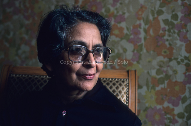 Amrita Pritam in Paris in 1983