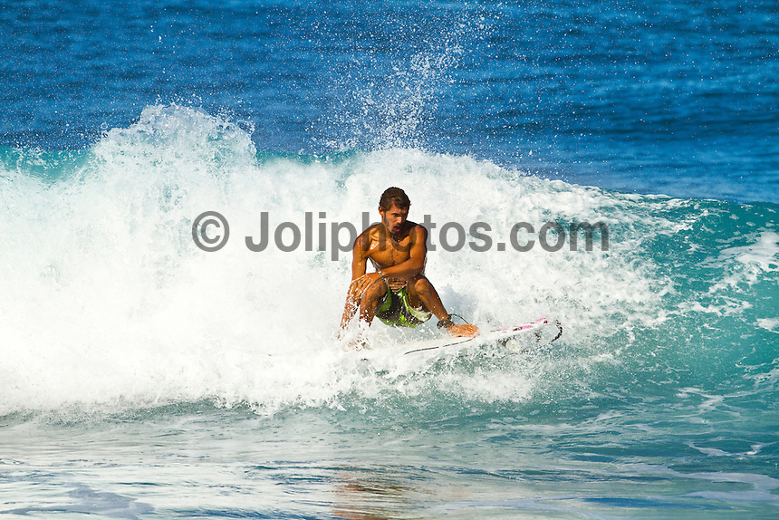 Haleiwa Hawaii,(Monday November 21, 2010) Jadson Andre (BRA).  .Three to four foot west nor west swell with light variable winds were the conditions for today's sessions at Off The Wall and Backdoor..Photo: joliphotos.com