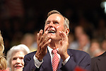 Former President George H. Bush at the 2004 Republican National Convention at Madison Square Garden in New York City, New York.