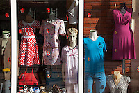Romania. Iași County. Iasi. Town center. Shop window with manikins and clothes for sale. Iași (also referred to as Iasi, Jassy or Iassy) is the largest city in eastern Romania and the seat of Iași County. Located in the Moldavia region, Iași has traditionally been one of the leading centres of Romanian social life. The city was the capital of the Principality of Moldavia from 1564 to 1859, then of the United Principalities from 1859 to 1862, and the capital of Romania from 1916 to 1918. 6.06.15 © 2015 Didier Ruef