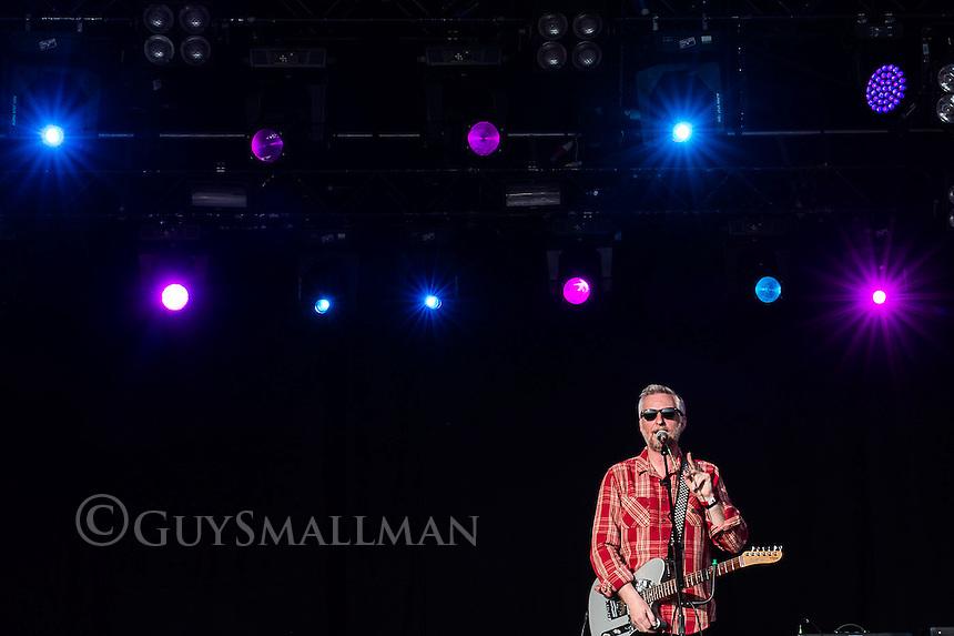 Billy Bragg onstage.
