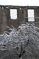 Nevicata a Roma.Snowfall in Rome.La casa della memoria.The house of memory...