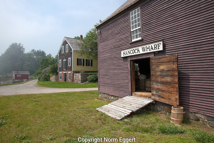 Hancock Wharf, owned by John Hancock from 1787 to 1793, located in York, Maine.