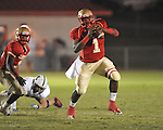 Lafayette High's Jeremy Liggins (1) vs. Lewisburg in Homecoming football action in Oxford, Miss. on Friday, September 30, 2011. Lafayette High won 42-0 for the team's 23rd straight win.