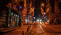 Fine Art Print, Photograph. Nighttime in Istanbul, Turkey. <br />