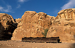 Jordan, lanscape near Petra, a Bedouin tent<br />