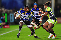 Semesa Rokoduguni of Bath Rugby in possession. Aviva Premiership match, between Bath Rugby and Sale Sharks on October 7, 2016 at the Recreation Ground in Bath, England. Photo by: Patrick Khachfe / Onside Images