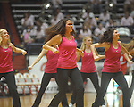 "Rebelettes dance at Ole Miss vs. Arkansas in a women's college basketball game at C.M. ""Tad"" Smith Coliseum in Oxford, Miss. on Thursday, February 17, 2011. Arkansas won 56-53."