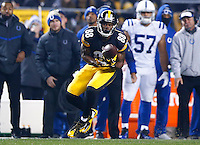 Darrius Heyward-Bey #88 of the Pittsburgh Steelers catch a pass against the Indianapolis Colts during the game at Heinz Field on December 6, 2015 in Pittsburgh, Pennsylvania. (Photo by Jared Wickerham/DKPittsburghSports)