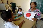 Elena Laurente teaches in the Smokey Mountain United Methodist Church kinder program in Manila.