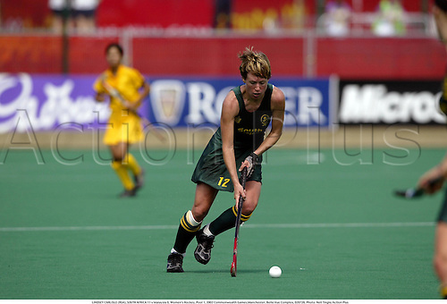 LINDSEY CARLISLE (RSA), SOUTH AFRICA 11 v Malaysia 0, Women's Hockey, Pool 1, 2002 Commonwealth Games,Manchester, Belle Vue Complex, 020726. Photo: Neil Tingle/Action Plus...woman.field.female