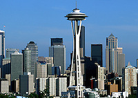 The Seattle skyline and Space Needle. Seattle, Washington.