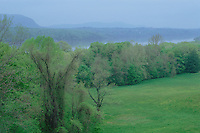 View of the Hudson River from Vanderbilt Mansion National Historic Site, Hyde Park, New York