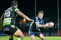 Picture by Allan McKenzie/SWpix.com - 11/05/2017 - Rugby League - Ladbrokes Challenge Cup - Featherstone Rovers v Halifax RLFC - The LD Nutrition Stadium, Featherstone, England  - Featherstone's Anthony Thackeray takes on Halifax's Adam Tangata.