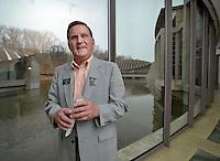 NWA Democrat-Gazette/BEN GOFF -- 02/23/15 Don Dragland of Bella Vista poses for a photo during his shift volunteering at Crystal Bridges Museum of American Art in Bentonville on Monday Feb. 23, 2014.