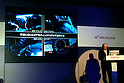 TOKYO - SEPTEMBER 8, 2009: Atsushi Ogasawara (Honda R&amp;D)  presents the New Dual Transmission for use in large-displacement Sport Bikes during a press-conference at the Honda's Tokyo headquarter. (Photo Laurent Benchana/Nippon News)