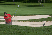 August 12, 2012 - David Nunes shoots from a sand bunker during the Pleasant Valley Invitational on Sunday. (Photo/MATT WRIGHT)